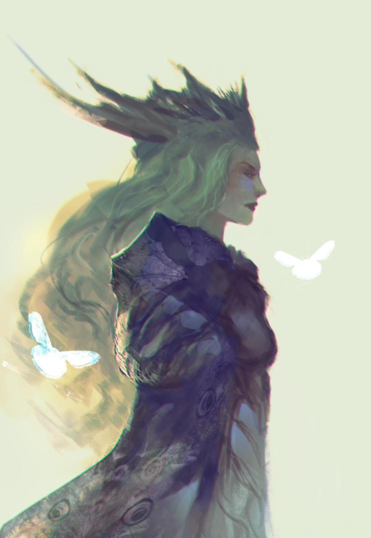 The moth-queen by elbardo