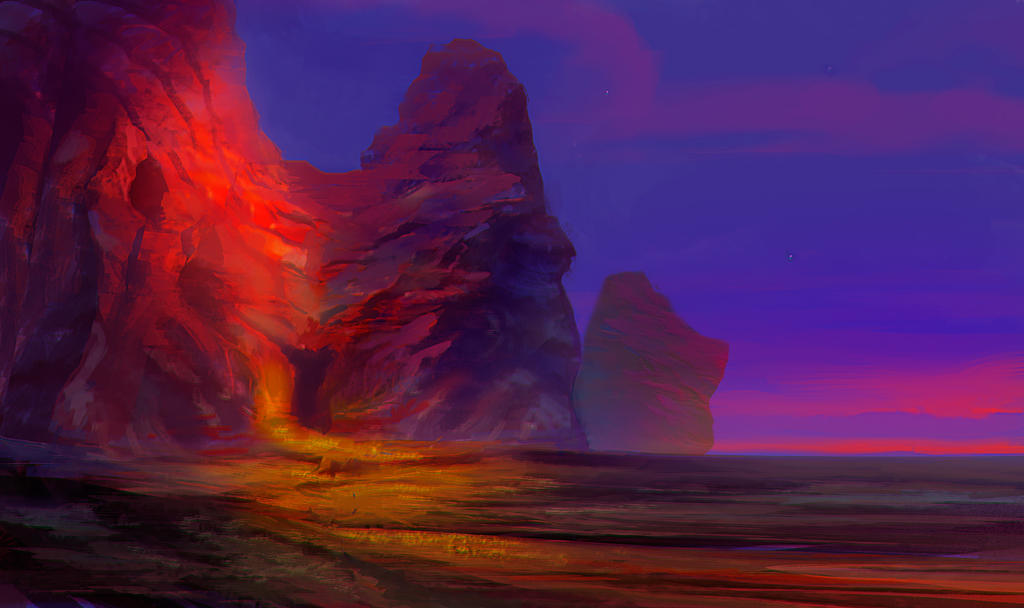Red Mountain by elbardo