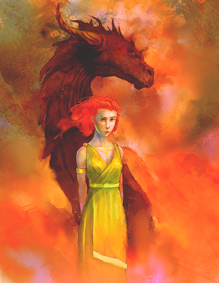 Dragon-girl by elbardo