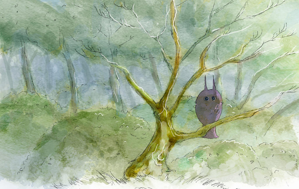 Owl in the forest by elbardo