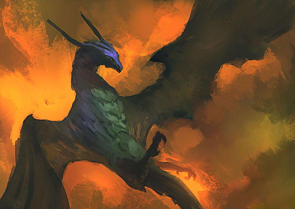 Fallen dragon by elbardo