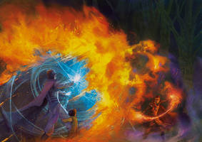 Duel of mages by elbardo