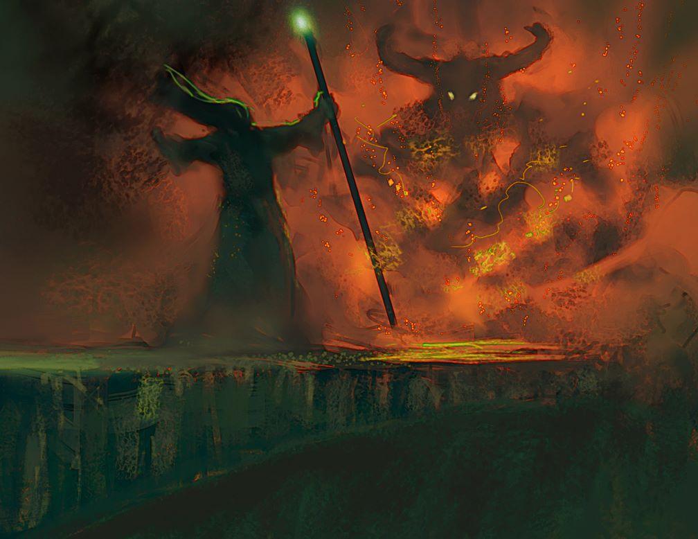 Gandalf vs Balrog by elbardo on DeviantArt