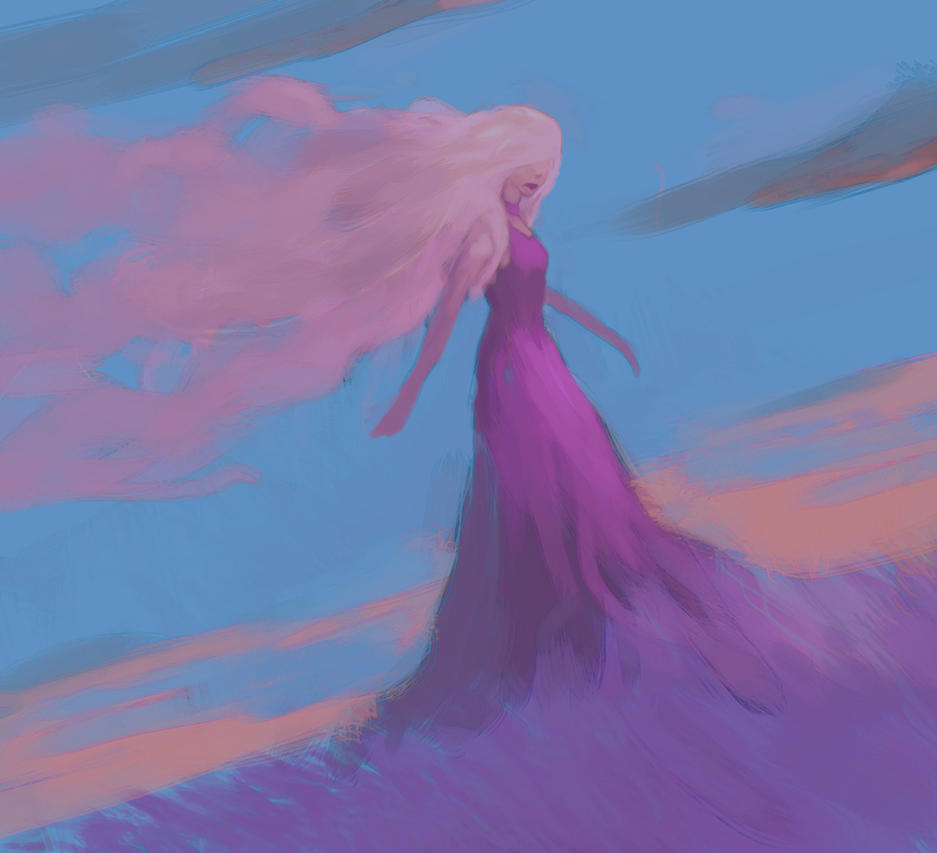 Lady of the clouds by elbardo