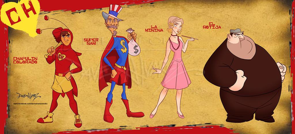 Chapulin Colorado Character lineup