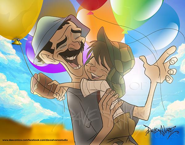 El Chavo y Ron Damon by DaveAlvarez