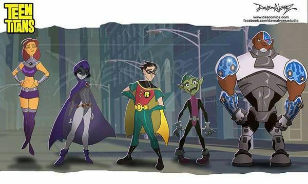 Teen Titans lineup by DaveAlvarez