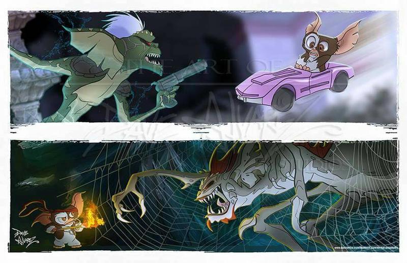 Gremlins 1 and 2 villains. by DaveAlvarez