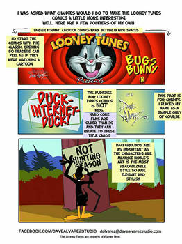 Looney Tunes comic book proposal Part 1 of 3