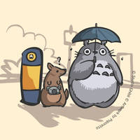 Totoro and Sydney Bus by Poporetto