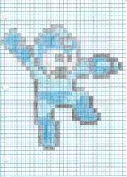 Megaman 8 bit cell shade drawing by MellowSunPanther