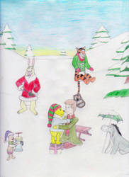 Winnie the Pooh and Christmas Too by MellowSunPanther