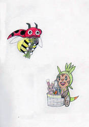 Ledyba and Chespin's Easter by MellowSunPanther