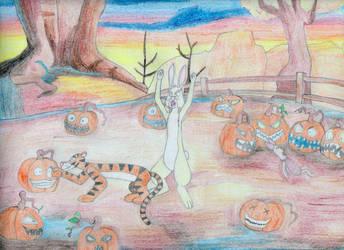 Jackie-lanterns just waitin' to happen! by MellowSunPanther