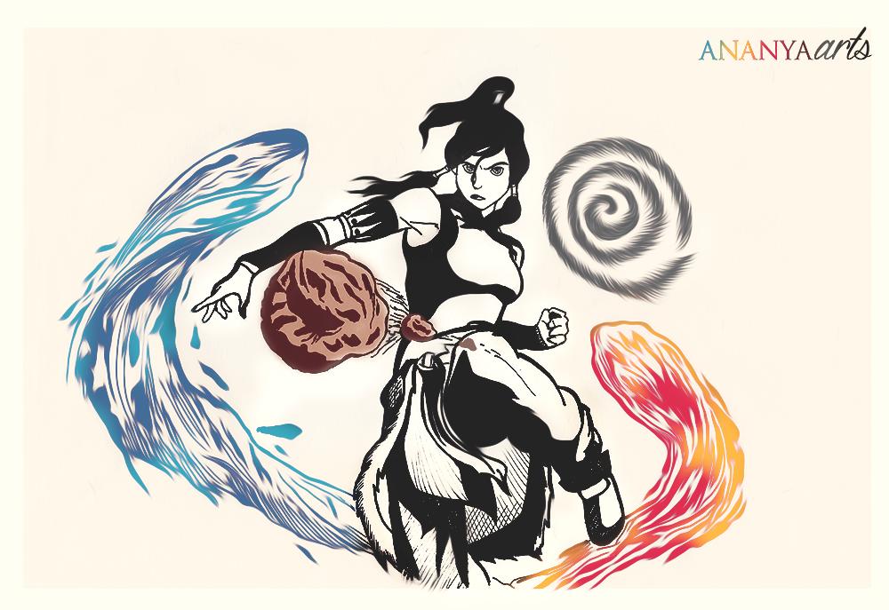 Avatar Korra by AnanyaArts