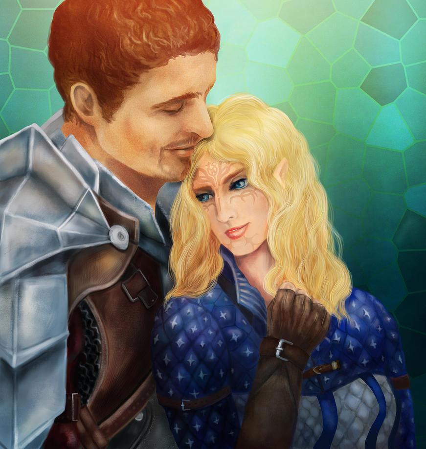 DA_Cullen and Iruna by Owlet-in-chest