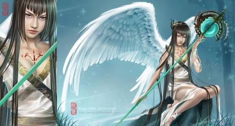 Eastern magic angel by shuangwen