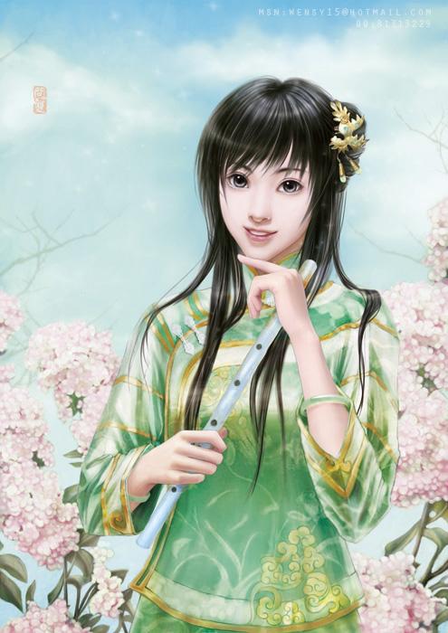 qing-Flower by shuangwen