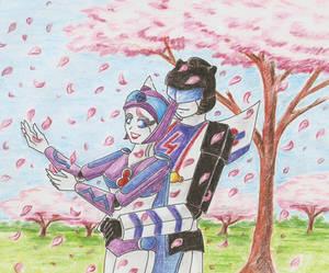 Comission-under sakura tree