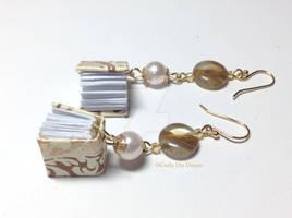Gold Book Earrings