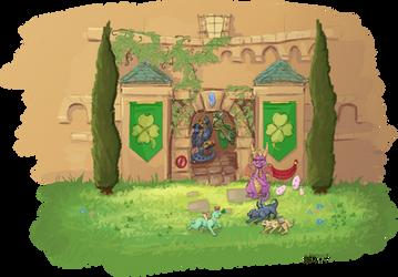 Spyro on Babysitting Duty by NaMoogly