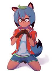 Michiru With A Leaf