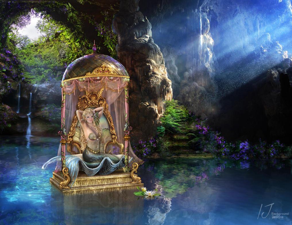 Mermaid cave by irenejones-art