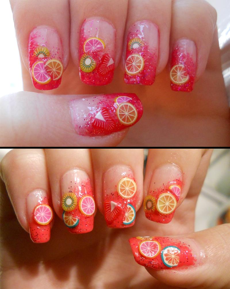 fimo fruit nails by Kinxa