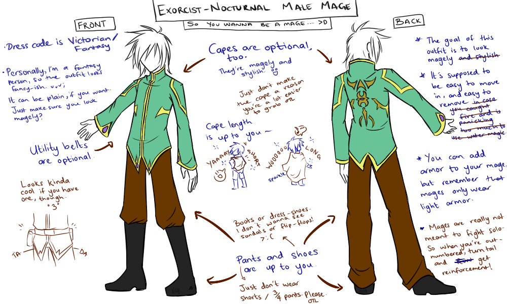 .E-N Male Mage Outfit Guide. By TyrantFlame On DeviantArt