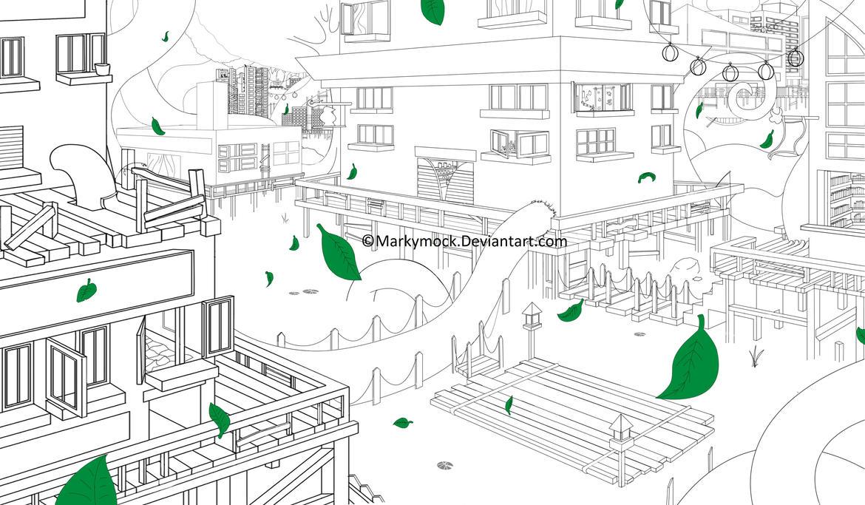 Line Art Village : Deviantart not found