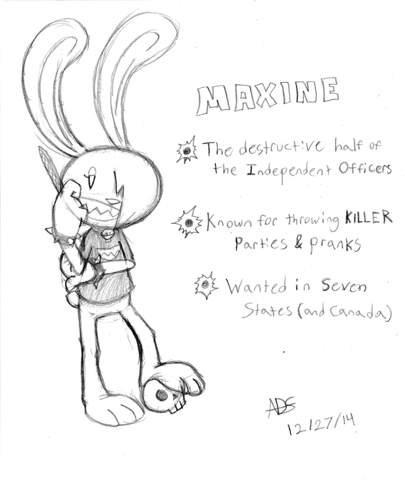 Sam and Max Comic Project: Maxine (Sketch) by ADSHedgehog