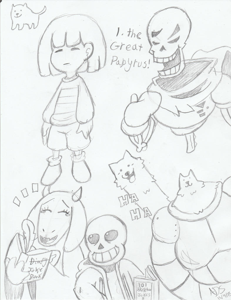 Undertale Sketches by ADSHedgehog