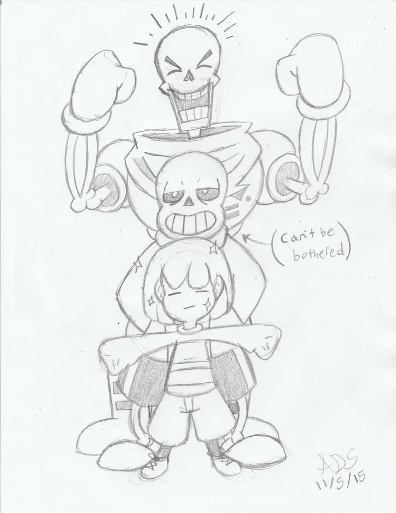 Undertale Trio by ADSHedgehog