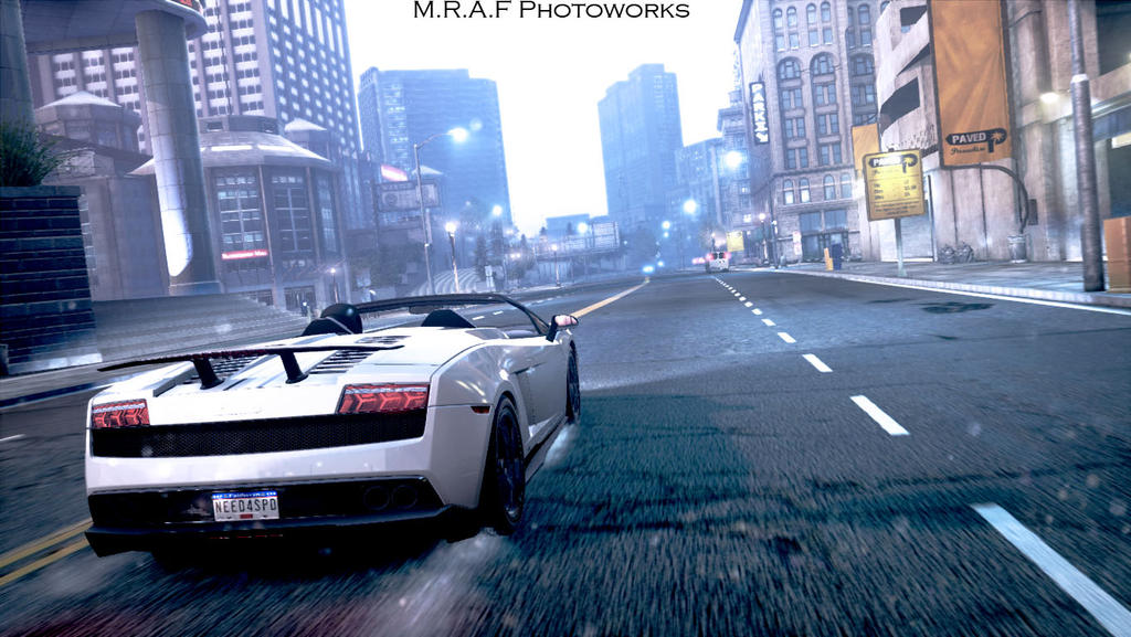 need for speed most wanted lamborghini gallardo by mrafphotoworks on deviantart. Black Bedroom Furniture Sets. Home Design Ideas