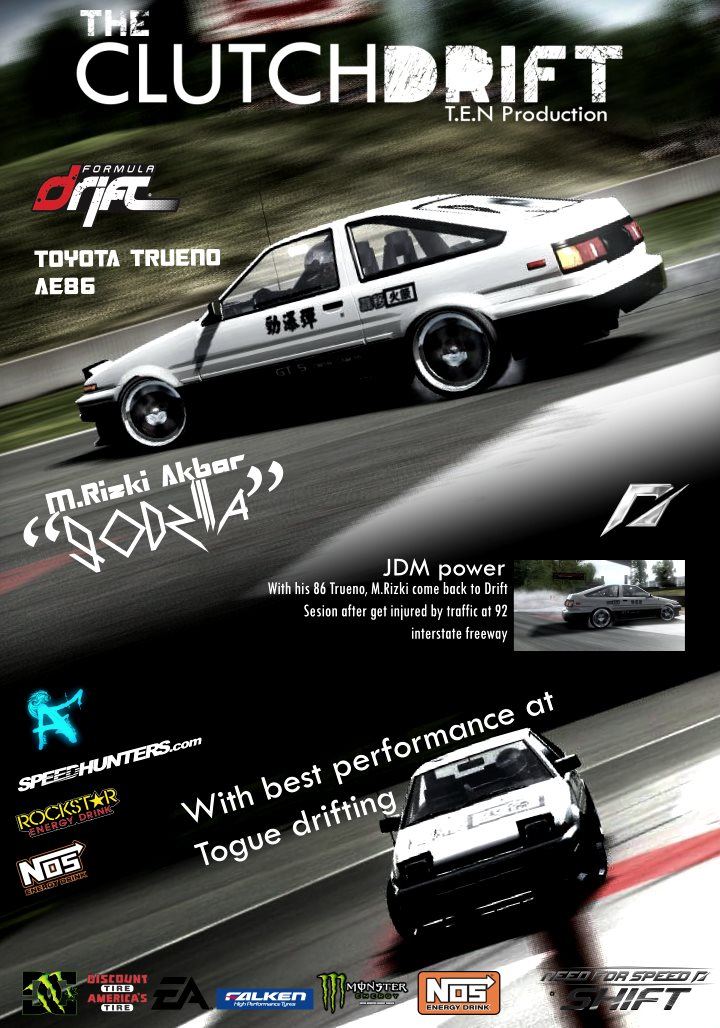 The Clutchdrift Magazine: Corolla AE86 -Initial D- by