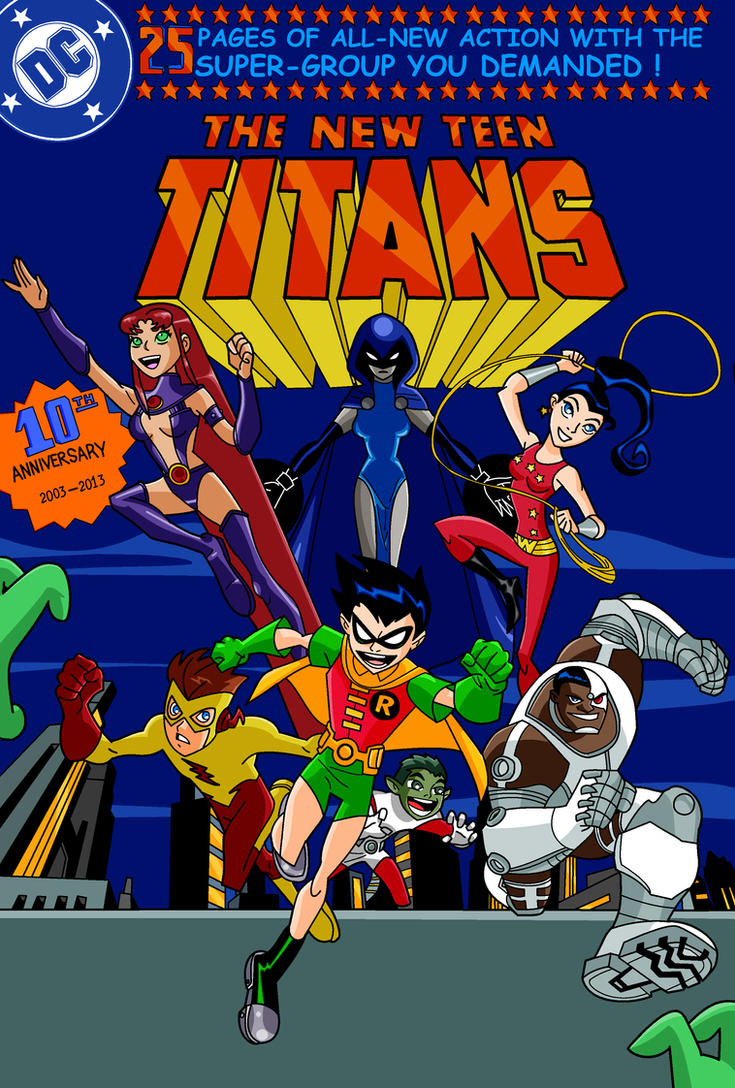 Teen Titans 10th Anniversary by PunkMetalhead