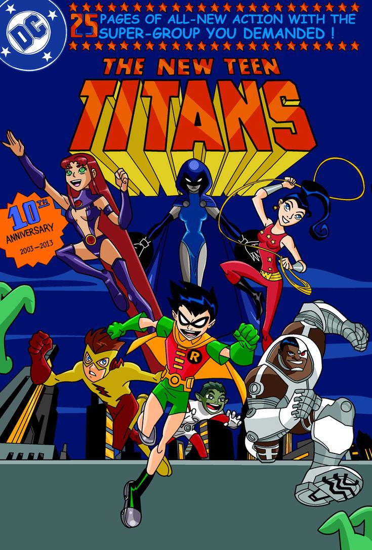 Teen Titans 10th Anniversary by PunkMetalhead