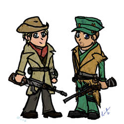 Liam and MacCready Chibis - Fallout 4 by Pegasicorn