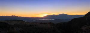 Roosevelt Lake at sunset 11-2017