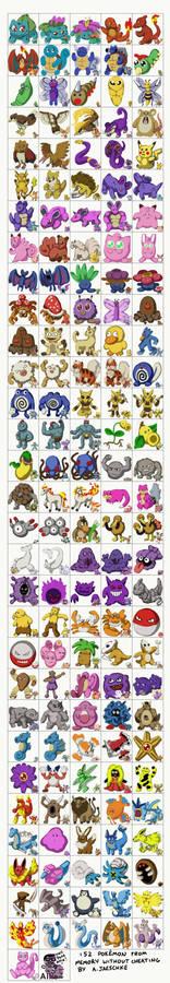 CHALLENGE: 151 Pokemon. 1 weekend. FROM MEMORY.