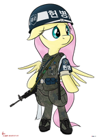 Fluttershy ROKAF Military police by orang111
