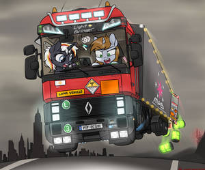 Littlepip 's Balefire bombs delivery.