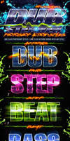 Dubstep Photoshop Actions and Styles