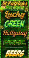 St Patricks Day Photoshop Styles and Web Flyer