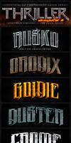Thriller Photoshop Layer Styles V3 by Industrykidz