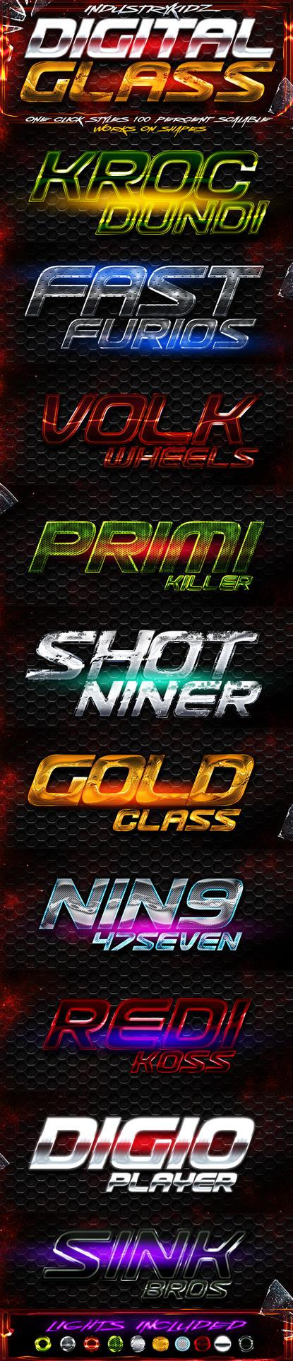Digital Glass Photoshop Styles by Industrykidz