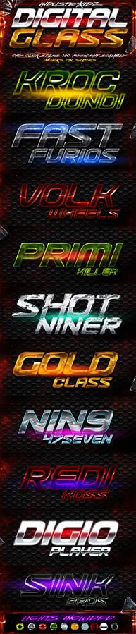 Digital Glass Photoshop Styles