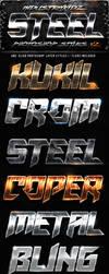 Metal Steel Photoshop Layers Styles V2 by Industrykidz