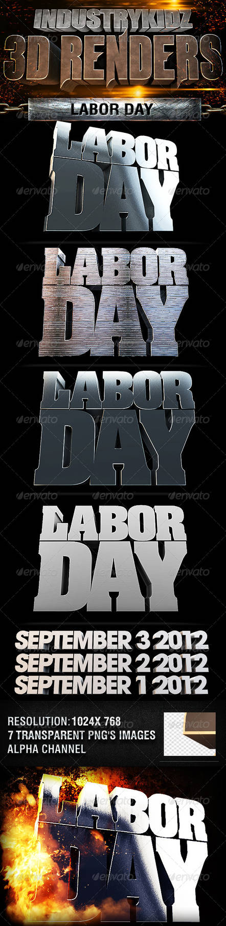 Labor Day 3d Renders