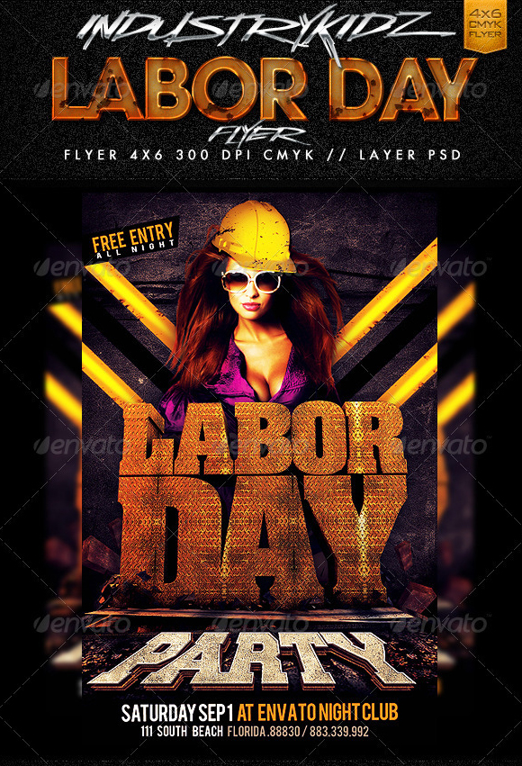 Labor Day Flyer Template By Industrykidz ...